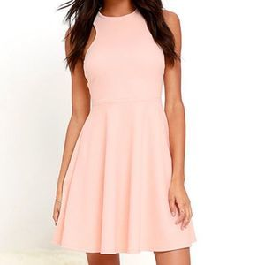 do & be Dresses - Do + Be Pink racerback fit and flare mini dress